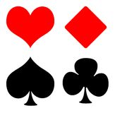 Playing card suits Stock Images