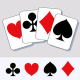 Playing card suits 2 Royalty Free Stock Images