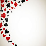Playing Card Suits Royalty Free Stock Images