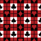 Playing Card Suits Pattern Royalty Free Stock Photo