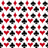 Playing card suits, seamless pattern background Stock Image