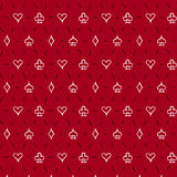Playing card suits, seamless pattern background. Playing card suits, signs, seamless pattern background stock illustration