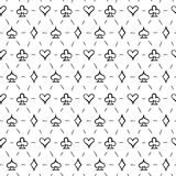 Playing card suits, seamless pattern background Royalty Free Stock Photography