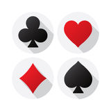 Playing Card suits. On white background Royalty Free Stock Photos