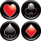 Playing card symbols Stock Photos