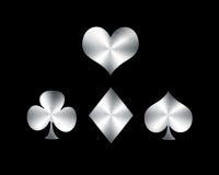 Playing card symbols royalty free stock photos