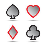 Playing card symbols. On white background Stock Images