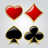Playing card symbols Stock Images