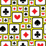 Playing card symbols seamless pattern Royalty Free Stock Image
