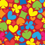 Playing card symbols seamless pattern Stock Photo