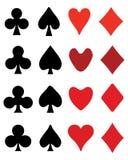 Playing card symbols Royalty Free Stock Photography