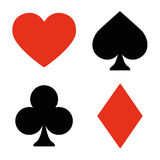 Playing card symbols set Stock Photography