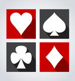 Playing card symbols Royalty Free Stock Photo