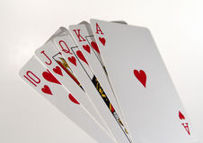Playing Cards. Photo of Royal Flush stock image