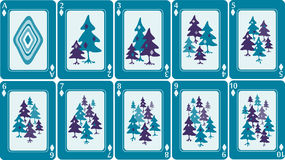 Playing cards 1/8 Stock Photography