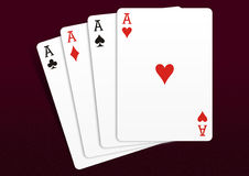 Playing Cards. Isolated on Dark background stock photos