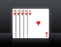 Playing Cards. Isolated on Dark background stock photo