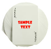 Playing-cards. On a white background are a risk Royalty Free Stock Photo
