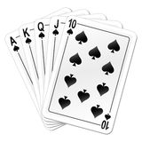 Playing cards. Vector illustration of playing cards Royalty Free Stock Photos