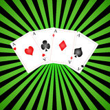 Playing cards. Background with scene of the playing cards Stock Images