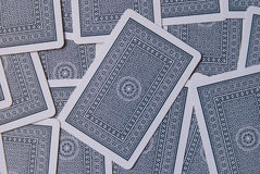 Playing Cards. Lying uppside down Stock Photos