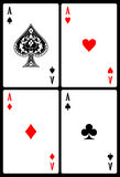 Playing cards. Set of  playing cards of all decks Royalty Free Stock Photography