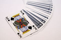 Playing cards. Playing card on the table Royalty Free Stock Photo