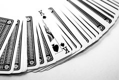Playing cards. On the table Royalty Free Stock Photos