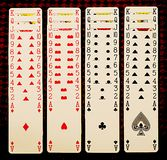 Playing cards. On the table Royalty Free Stock Photography