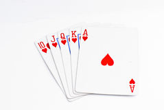 Playing Cards. Cards isolated on a white background Royalty Free Stock Photos
