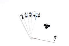 Playing Cards. Cards isolated on a white background Stock Images