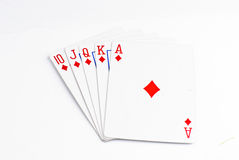 Playing Cards. Cards isolated on a white background Stock Image