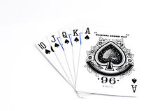 Playing Cards. Cards isolated on a white background Royalty Free Stock Photography