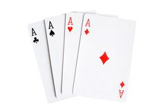 Playing cards. Isolated on the white background Stock Image