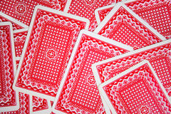 Playing cards. On green cloth stock photo