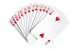 Playing cards. Isolated on the white background Royalty Free Stock Photography