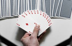 Playing cards. On the table Stock Images