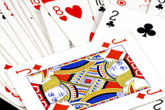 Playing cards. Lots of playing fun with these game cards Stock Photos