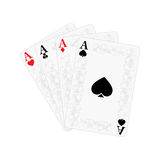 Playing cards. Four of a kind Stock Photos