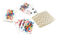 Playing cards. Series: isolated on white: Game - playing cards stock image