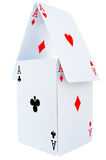 Playing cards. Classic playing cards isolated on white background royalty free stock photo