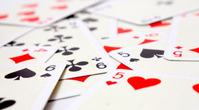 Playing cards. With a shallow dop Stock Images