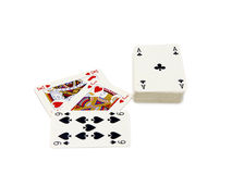 Playing cards. Isolated on white background Royalty Free Stock Image