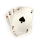 Playing Cards. Computer illustration on white background Stock Photos