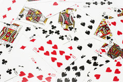 Playing Cards. Top View of Playing Cards Royalty Free Stock Photo