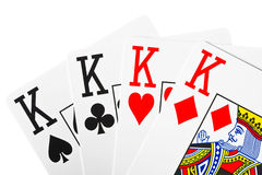 Playing cards. Royalty Free Stock Photos