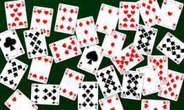 Playing Cards. Deck of playing cards used in a canasta game along with many other popular card games vector illustration