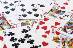 Playing cards. A mixed group of playing cards Royalty Free Stock Photo