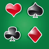 Playing Cards. Vector set of icons on the playing Cards theme Royalty Free Stock Photography