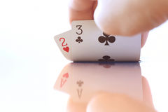 Playing cards. Force of playing cards in game Stock Image